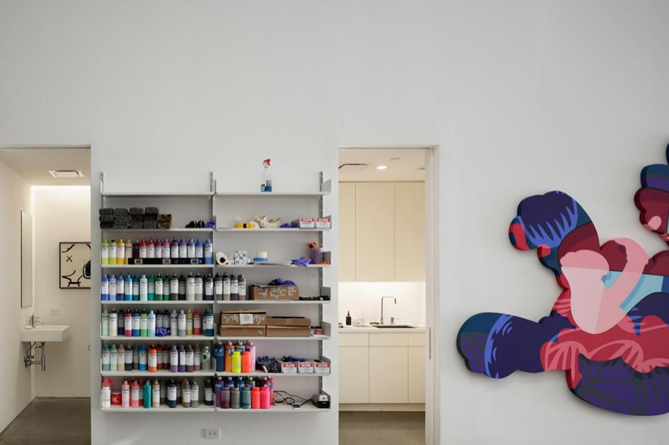 kaws studio by wonderwall